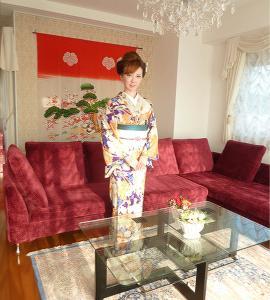 2013大正浪漫柄の浴衣を着物風に…金沢東山So-barでお食事会
