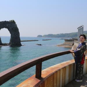 再びの鍋釣岩&うにまるくんの奥尻島出発。
