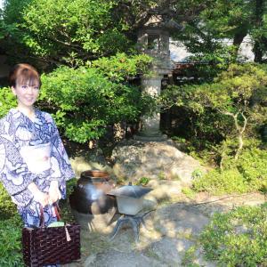 きもの文化検定 有松絞り見学(5)竹田家茶室&日本料理やまとさんへ