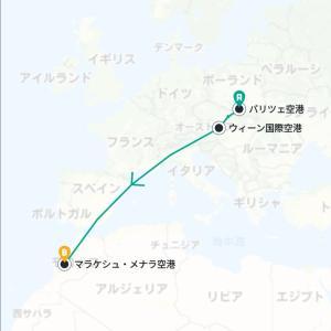 【ポーランド】オシフィエンチムから飛行機でモロッコへ。ウィーンの空港で空港泊。