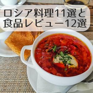 【ロシア】ロシア料理11選と食品レビュー12選(ユーラシア大陸バイク旅 2019)