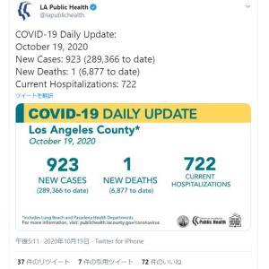 ロサンゼルス今日もコロナ死者1名