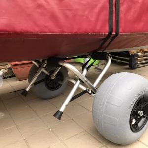 カヤックドーリーを購入!ノーパンクタイヤの空気入れはどれがいいの?