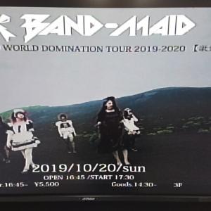 2019年10月20日 BAND-MAIDワンマンライブ大阪