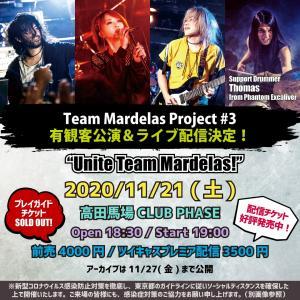 2020年11月21日 Mardelasワンマンライブ東京