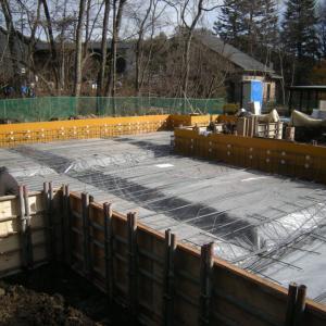 基礎工事の続き 鉄筋組工事と検査 12月25~27日
