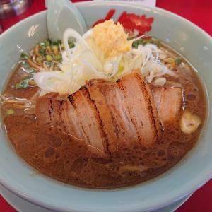 山岡家 万代店さんで期間限定の「豚バラ生姜醤油ラーメン」食べたのだ。