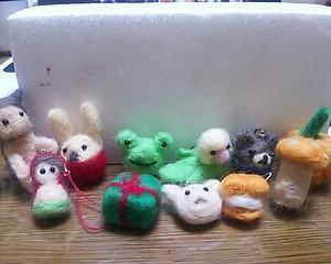 今までに作った羊毛フェルト。