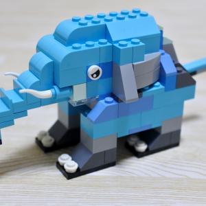 レゴクラシック10696作品例(動物):ゾウの作り方