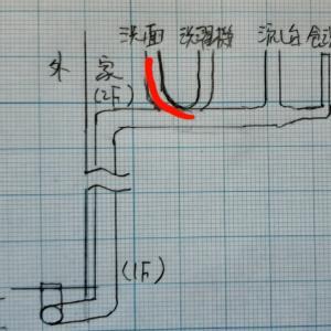 排水管洗浄② 上からいきます!