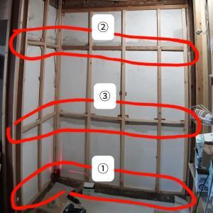 ロフト階段が収まる押し入れの作成① 壁下地②