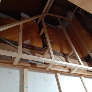 ロフト階段が収まる押し入れの作成① 壁下地③