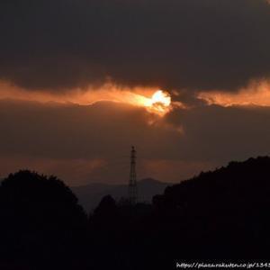 年始旅行 その1 夕焼け夕陽から