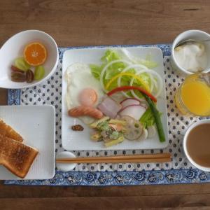 朝食は家内と二人!