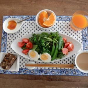 朝食は家内と二人ゆったり!