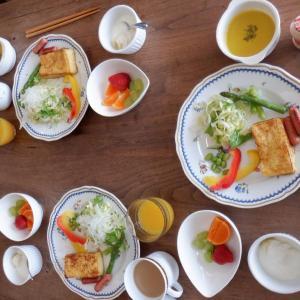 朝食は孫娘とフレンチトーストを!