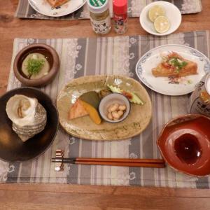 夕食は三つ葉と菊菜のお鍋!