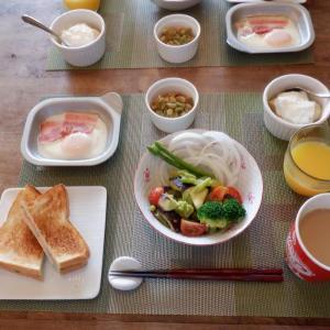 朝食はアボガド+水なす+トマトのレモン風味サラダ!
