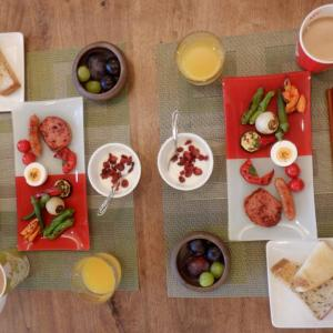 家内と二人朝食!