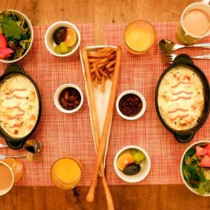 朝食は海老グラタンを作りました!