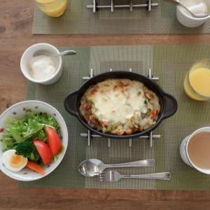 朝食は家内と二人
