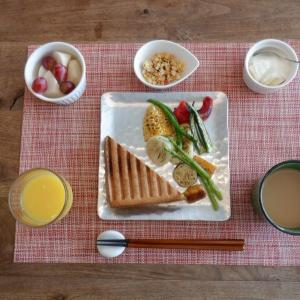朝食は家内と二人・・