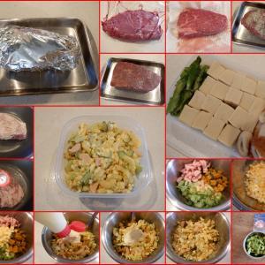 夕食は娘の所へ出張料理へ下準備!