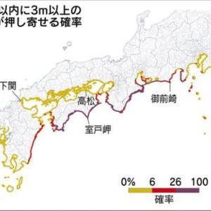 2020年公表の各地の津波確率