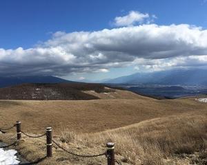 長野県から見える富士山〜墓参り〜たてしな自由農園