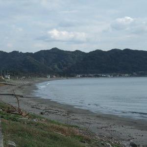 岩井海岸と民宿街を散策
