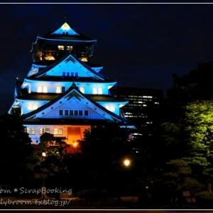 感謝のブルーライトアップ*大阪城