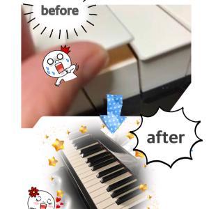 新しい鍵盤に☆