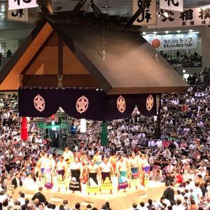 初めての相撲観戦