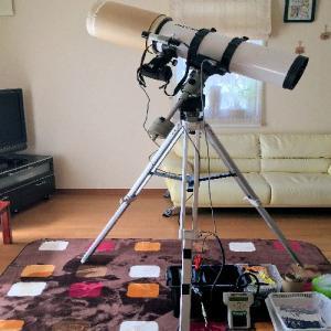 天体望遠鏡と一眼カメラで写真撮影する場合の機材一式