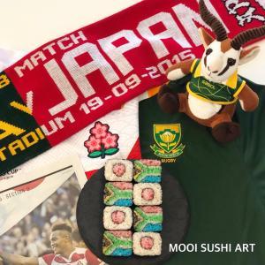 日本と南アフリカの飾り巻き寿司