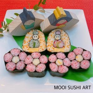 お雛様の飾り巻き寿司
