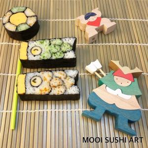 こいのぼりと六車巻の飾り巻き寿司