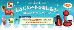 【42,500円還元】ネスレ 令和はじめの冬を楽しもうキャンペーン/3か月毎定期便/ポイントサイト経由でお得に