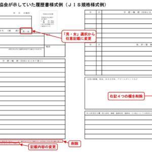 厚労省「履歴書の様式例の作成について」に関する声明
