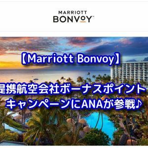 【Marriott Bonvoy】ANAでもOK!提携航空会社ボーナスポイントキャンペーン♪