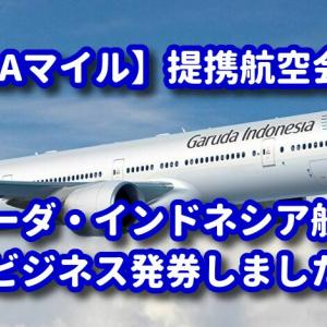 ANAマイルでガルーダインドネシア航空のビジネスクラスを家族4名分発券♪