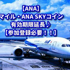【ANA】マイルとSKYコイン有効期限再延長~♪【参加登録必要】
