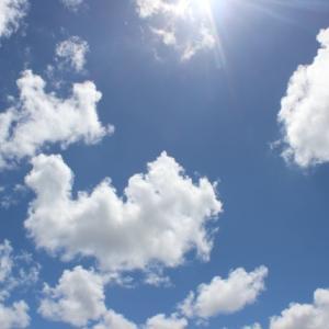 空を見上げて。思いがけない出会いがあるかも。