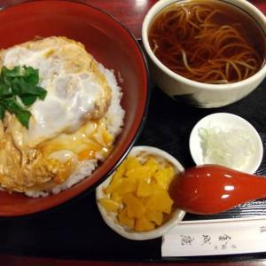 【東京都】金城庵の上かつ丼と温蕎麦のセット