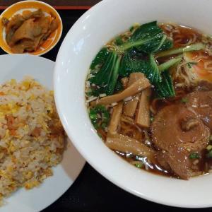 【東京都】新台北菜館のラーメンと半炒飯のセット