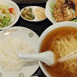 【東京都】羽衣の地鶏唐揚と温麺のランチセット