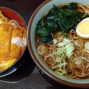 【東京都】文殊の温そばとかつ丼のセット