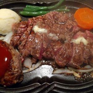 【東京都】神戸ステーキ処牛庵の神戸ビーフハンバーグとステーキのコンボ