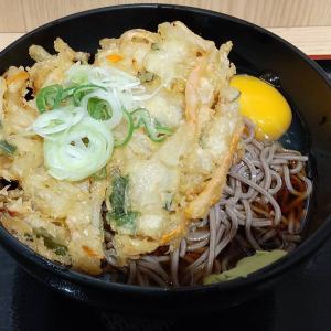 【東京都】よもだそばの特大天玉そば(冷)麺大盛