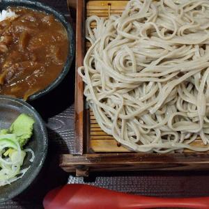 【東京都】十割蕎麦嵯峨谷のもりそばとカレーライスのセット麺大盛